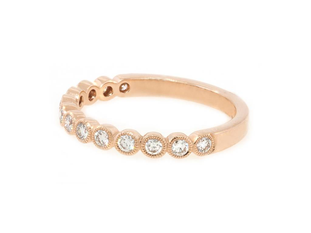 Beverley K Collection Bezel Set Diamond Half Eternity Band