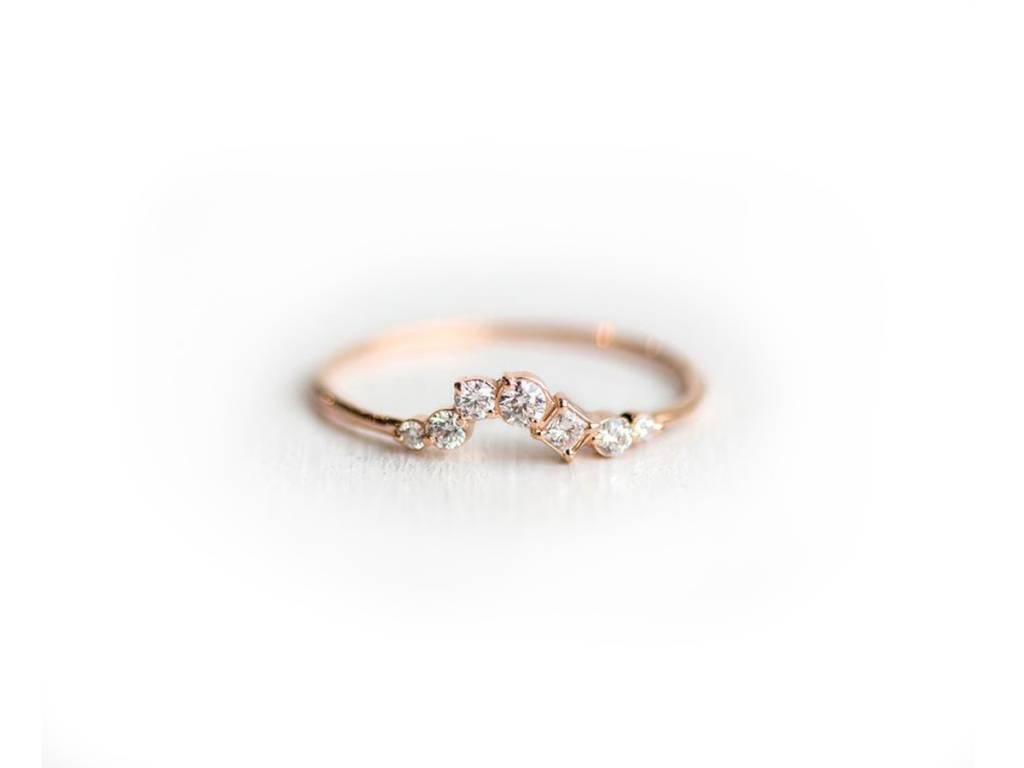 Melanie Casey All Who Wander Curved Rose Gold Ring