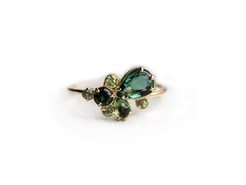 Melanie Casey Willow Green Cluster Ring ME22