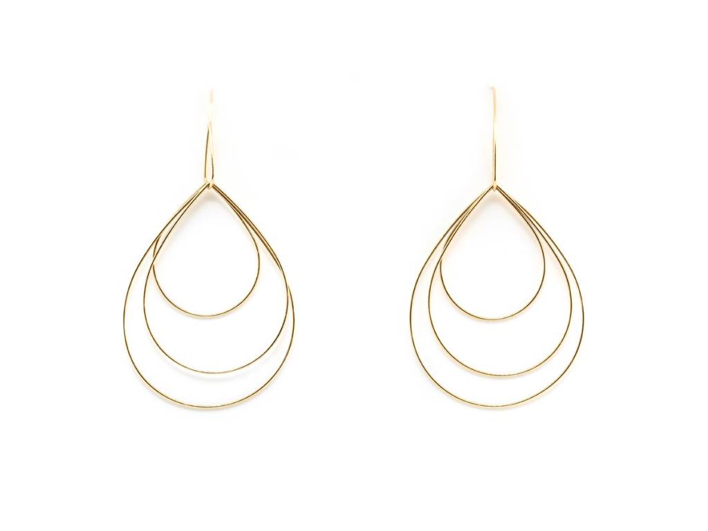Trabert Goldsmiths Delicate Geometric Gold Hoop Earrings
