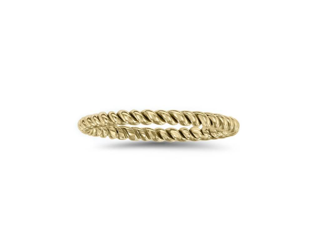 Twisted 14k Gold Band N4