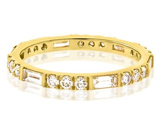 Trabert Goldsmiths Horizon Line 0.85ct Dia Eternity Band E1449