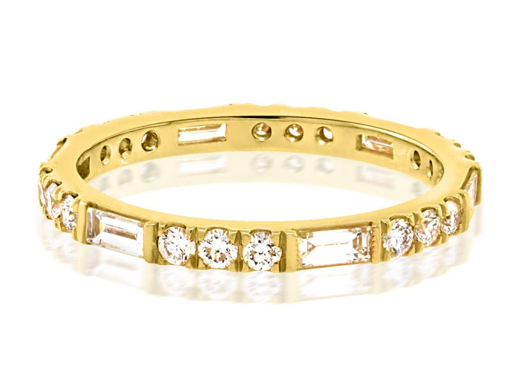 Trabert Goldsmiths Horizon Line 0.85ct Dia Eternity Band