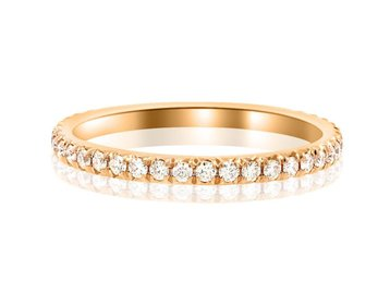 Trabert Goldsmiths Moissanite Pave Eternity Rose Gold Band E1531