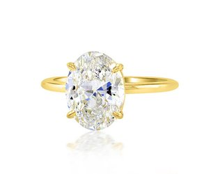 Trabert Goldsmiths 3.01ct ESI2 Oval Diamond Aura Ring E1653