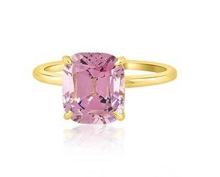 Trabert Goldsmiths 3.78ct Cushion Cut Violet Spinel Aura Ring E1659