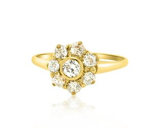 .75ct Victorian Diamond Cluster Ring E1684