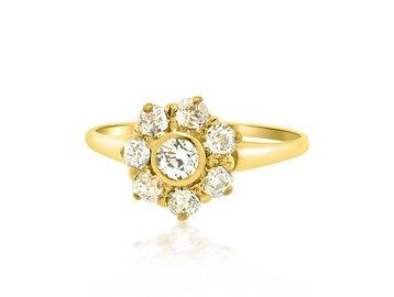 .75ct Victorian Diamond Cluster Ring E1684