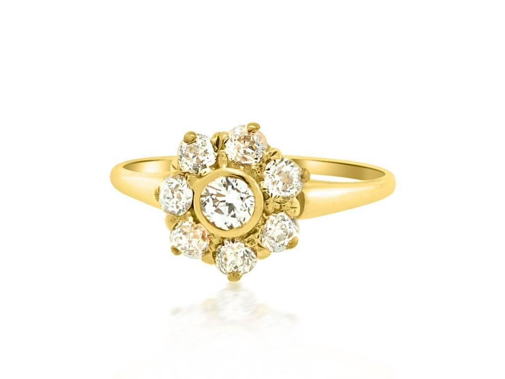 .75ct Victorian Diamond Cluster Ring