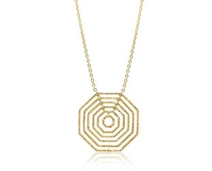 Trabert Goldsmiths Concentric Octagonal Diamond Necklace E1691