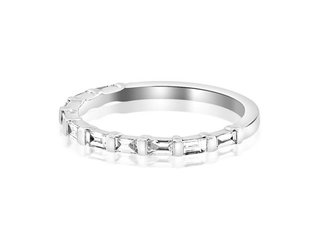 Beverley K Collection Baguette Diamond Half Eternity Band AB456