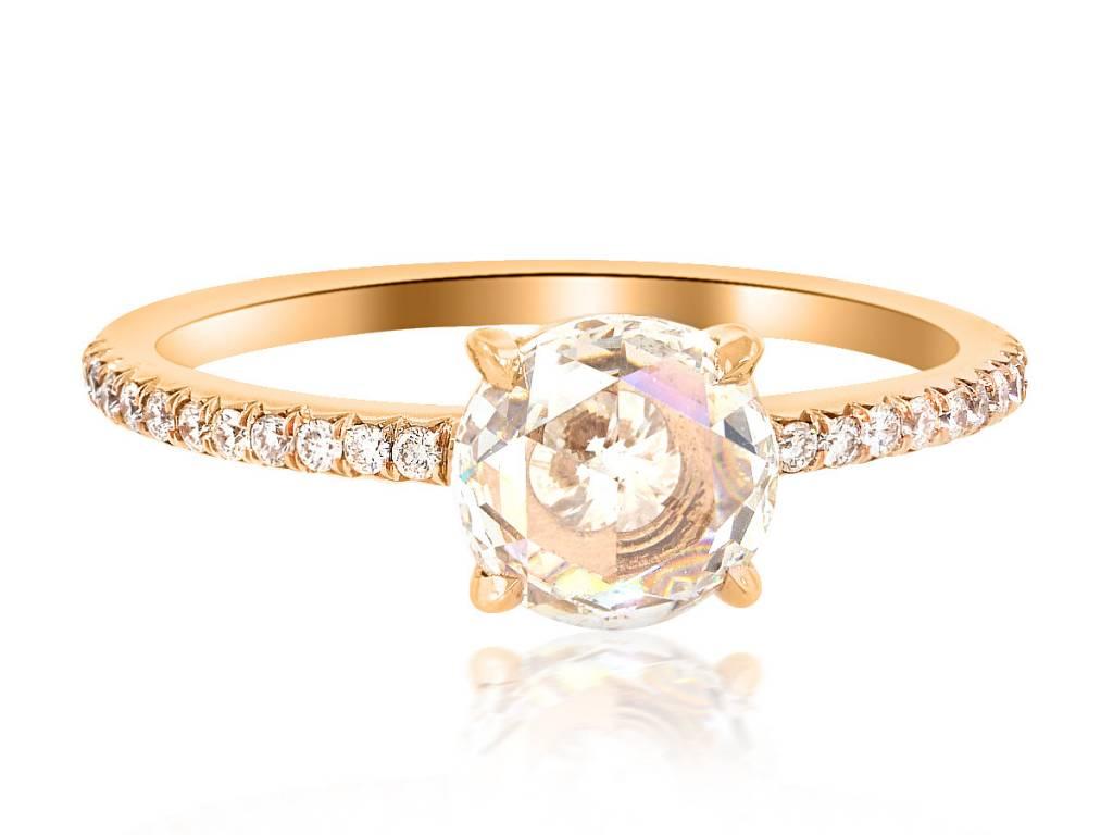 Trabert Goldsmiths 1ct Rose Cut Diamond Polaris Ring
