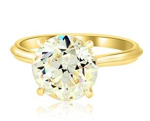 Erika Winters 3.26ct O-P/VS1 Old Euro Diamond Lena Ring EW18