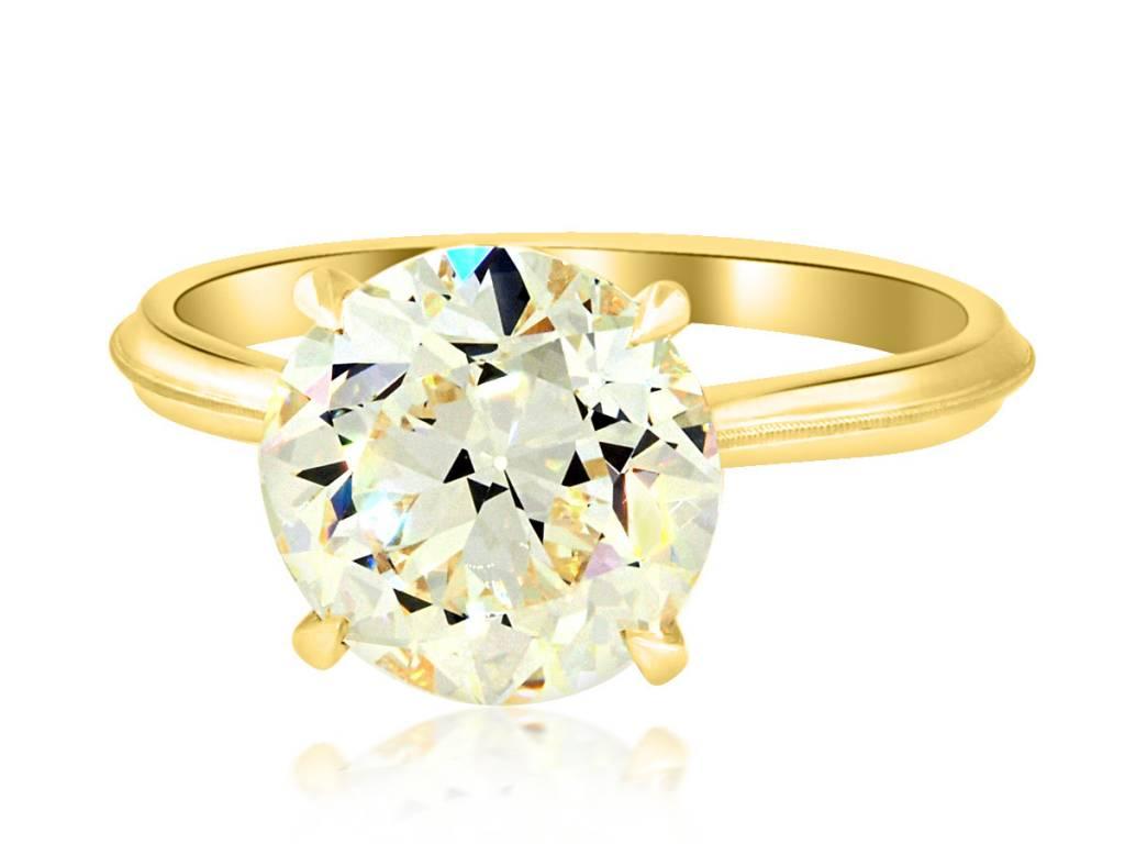 Erika Winters 3.26ct O-P/VS1 Old European Diamond Lena Ring