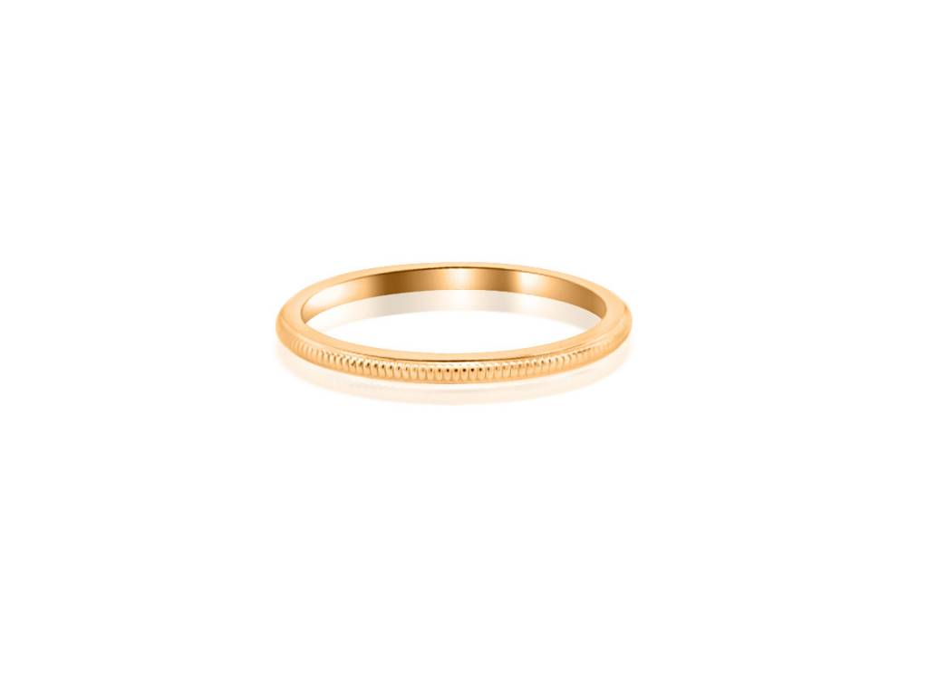 Thin Milgrain Rose Gold Band
