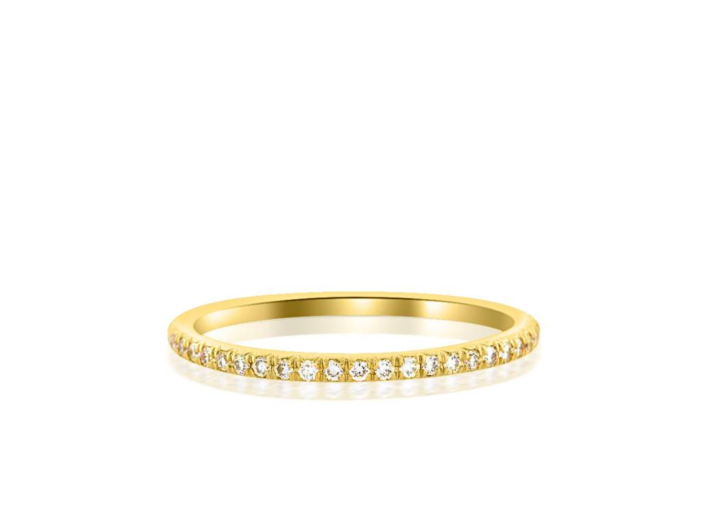 Trabert Goldsmiths French Pave Diamond Eternity Band