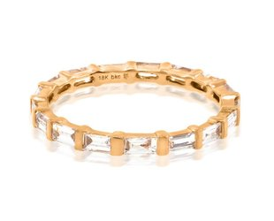 Beverley K Collection Diamond Baguette Eternity Band AB448