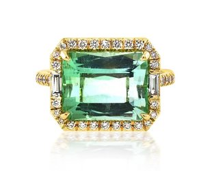Trabert Goldsmiths 5.52ct  Tourmaline Goddess Ring E1439