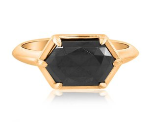 Trabert Goldsmiths 2.34ct Black Diamond Stella Ring E1486