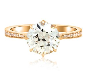 Erika Winters 2.06ct OVVS2 Diamond Victoria Ring EW17