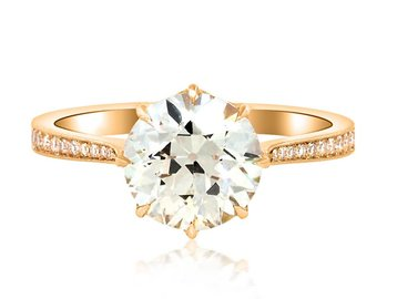 Erika Winters 2.06ct OVVS2 DiamondVictoria Ring EW17