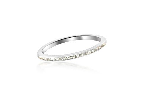 Trabert Goldsmiths French Baguette Diamond Eternity Band