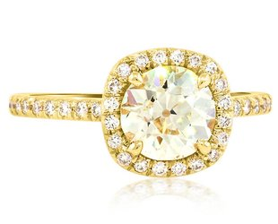 Trabert Goldsmiths 1.26ct NVS1 OE Golden Goddess ring E1368
