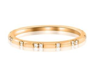 Trabert Goldsmiths Ursa Minor Dia Rose Gold Band E1612
