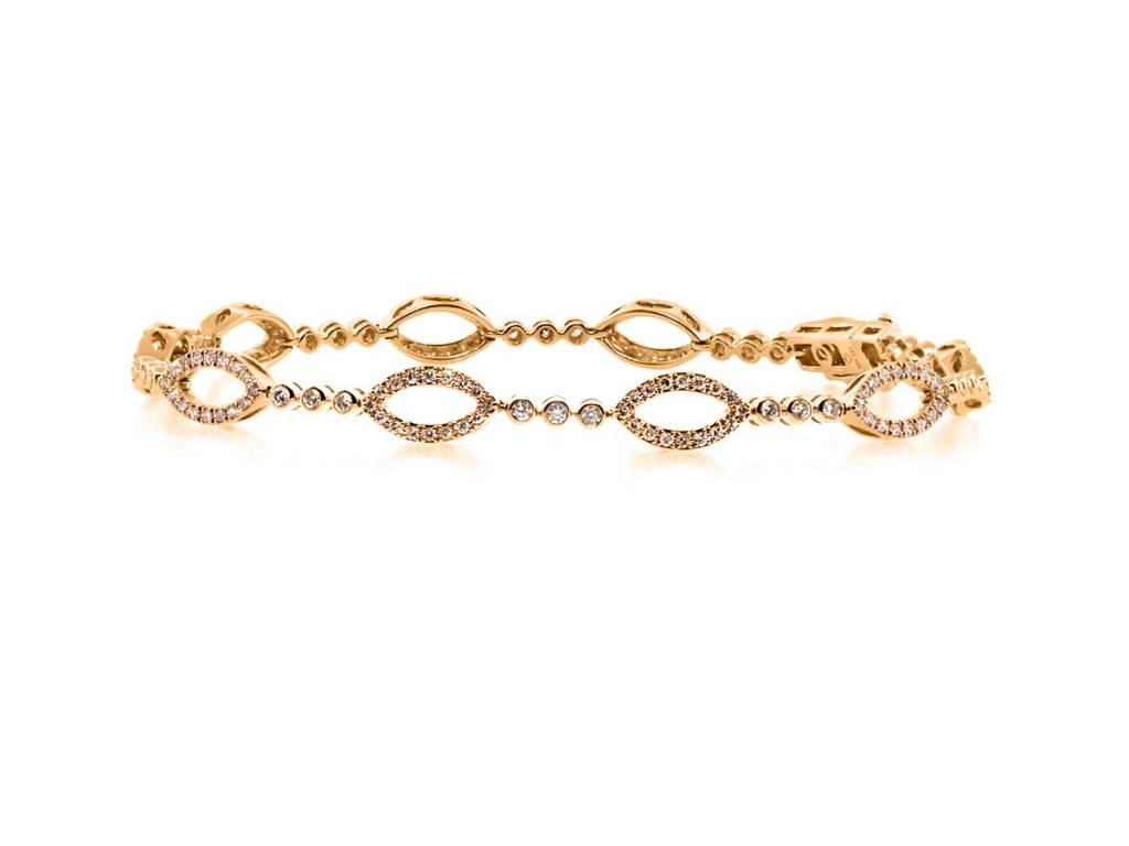 Luvente Marquise Patterned Diamond Bracelet LV77