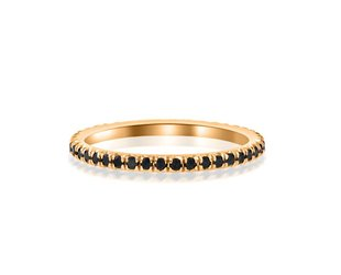 Trabert Goldsmiths Black Diamond and Rose Gold Eternity Band E1161
