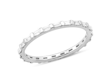Dana Rebecca Sadie Mini Baguette Diamond White Gold Ring DR8