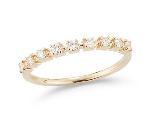 Dana Rebecca Delicate Half Diamond Gold Band DR17