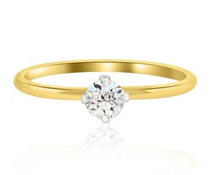 Trabert Goldsmiths .25cts Diamond Baby Solitaire Ring E1551