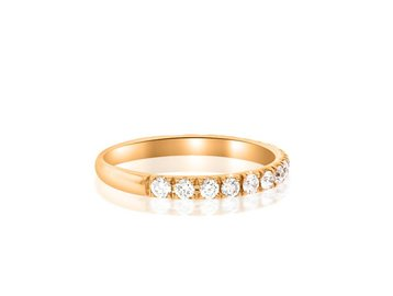 Beverley K Collection Rose Gold and Diamond Half Band AB417