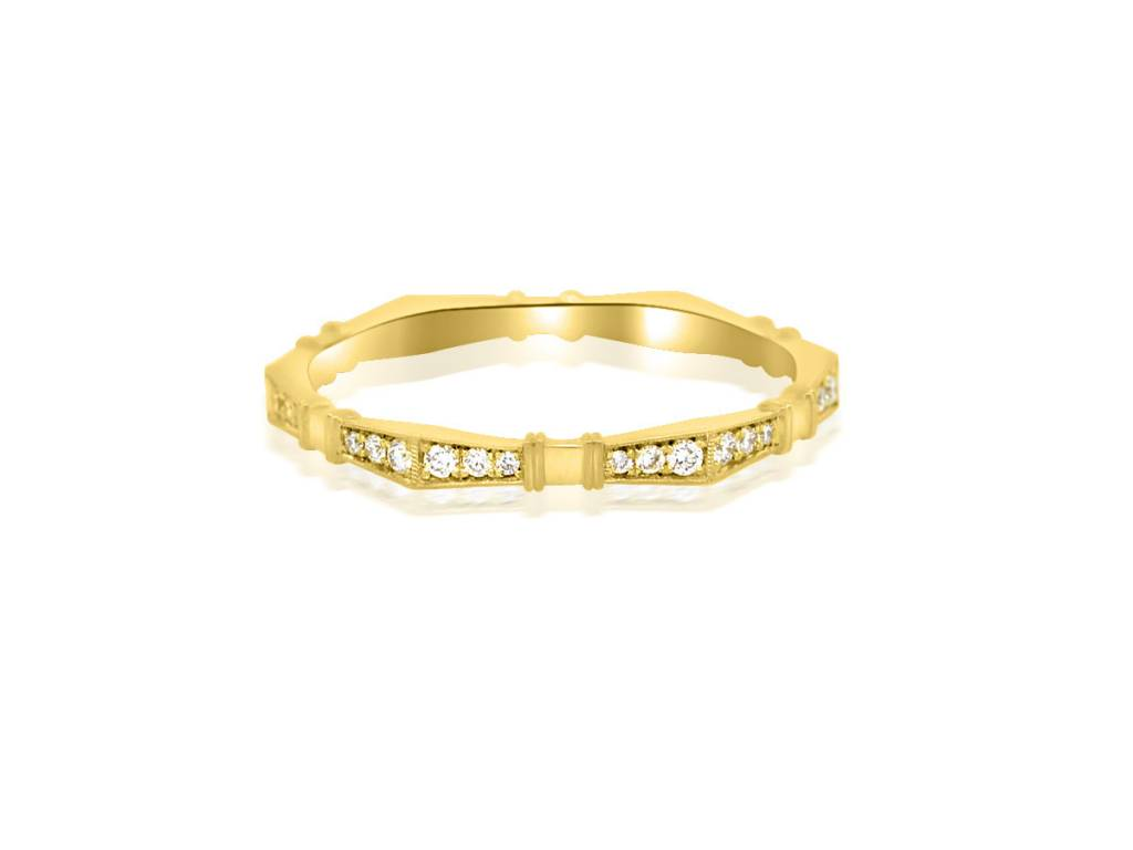 Erika Winters 'Imogen' Diamond Yellow Gold Eternity Band