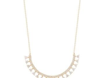 Dana Rebecca Curved Diamond Bib Necklace DR13