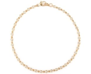 Dana Rebecca Delicate Bezel Diamond Gold Link Bracelet DR19