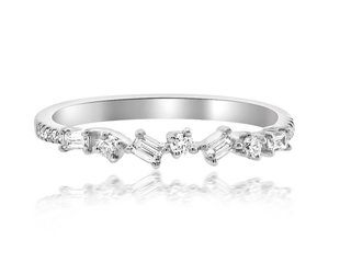 Liven Mini Baguette Diamond White Gold Ring LN35