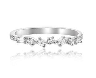 Mini Baguette Diamond White Gold Ring LN35