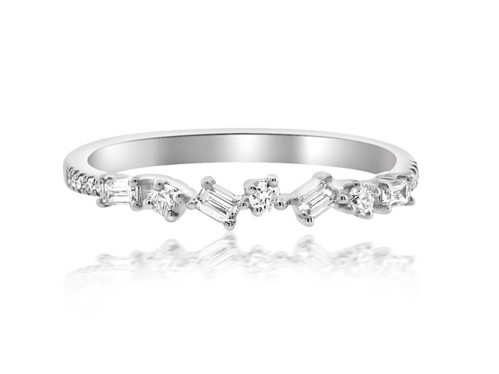 Mini Baguette Diamond White Gold Ring