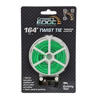 Growers Edge Grower's Edge Green Twist Tie Dispenser w/ Cutter - 164 ft (6/Cs)