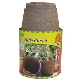 """Jiffy Jiffy 5"""" Round Peat Pots 6 pk"""