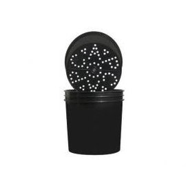 CAP Ebb & Grow Outer Buckets Blk2 Gal Btm Hole