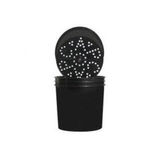 CAP Ebb & Grow Outer Buckets Blk2 Gal Btm Hole