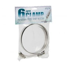 """Active Air Stainless Steel Duct Clamps, 6"""""""