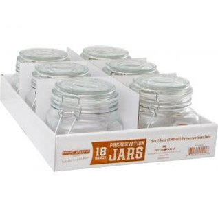 Private Reserve Private Reserve Spring Clamp Jars, 18 oz, pack of 6