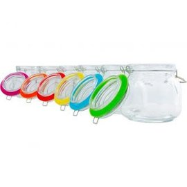 Private Reserve Private Reserve Spring Clamp Jars, 34 oz, pack of 6