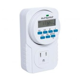 Autopilot Autopilot 7-Day Grounded Digital Programmable Timer, 1725W, 15A, 1 Second On/Off, 8 On/Off Cycles