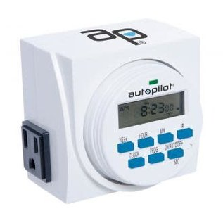 Autopilot Autopilot Dual Outlet 7-Day Grounded Digital Programmable Timer, 1725W, 15A, 1 Second On/Off