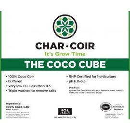 Char Coir Char Coir Coco Cube RHP Certified Coco Coir, 2.25 L, case of 32 single